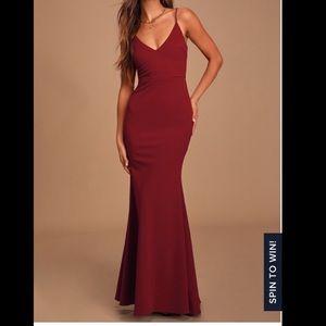 Lulus Infinite Glory Wine Maxi Dress